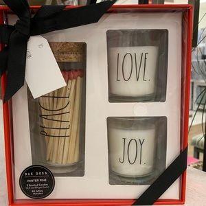 Rae Dunn Let Candles gift set